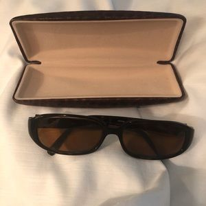 Anne Klein Prescription Sunglasses Brown Tortoise